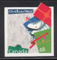 Canada MNH Scott #2004i 48c Ice Skates - Christmas Gifts Die Cut To Shape - 1952-.... Règne D'Elizabeth II