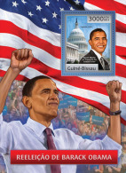 GUINEA BISSAU 2012 - Barack Obama S/S. Official Issue - Beroemde Personen