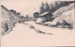 Mazots Valais, Dessin Meltzer (10032) - VD Vaud