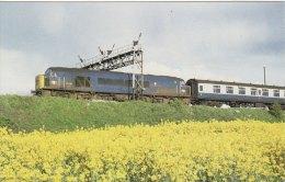 Railway Postcard BR Class 45 45118 Harlington 1979 Peak Diesel Loco - Trains