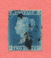 GB SC #4b U (L,C) W/LT CRS @ UL CNR + SM STN ON BACK, CV $55.00 - 1840-1901 (Victoria)