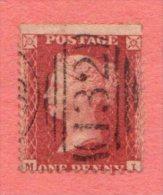 "GB SC #20 U (M,J) ""132"", CV $11.50 - 1840-1901 (Victoria)"