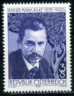 Österreich - Michel 1539 - ** Postfrisch - Rainer Mariua Rilke - Wert: 0,70 Mi€ - 1945-.... 2ª República