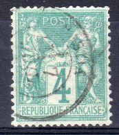 1876-78, Sage Type I, Y&T No.  63, Oblitéré, Dentelure Partiellement Defecteuse, Lot 38869 - 1876-1878 Sage (Type I)