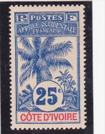 COTE  D'IVOIRE  Y.T. N° 27  NEUF*  Trace De Charnière - Côte D'Ivoire (1960-...)