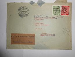 24.05.13.lot 07_lettre  ,cachet Temporaire. 1920 - Alsace-Lorraine