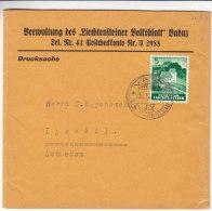 Liechtenstein - Bande Pour Journaux De 1943 ?? - Expédié Vers La Suède - Covers & Documents