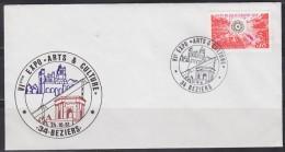 = Exposition VIème Arts & Culture Le 24.10.81 à Béziers 34 Enveloppe Avec Timbre 1803 Surrégénérateur Phoénix - Marcofilie (Brieven)