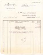 """Facture """"cartes à Jouer Grimaud"""" à Paris, Pour Chalon-sur-Saône - France"""