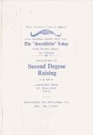 FRANC MACONNERIE THE SOUTHFIELDS LODGE (ROYAUME UNI) FEUILLET CARTONNE 4 PAGES  1972 - Historical Documents