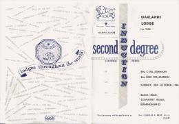 FRANC MACONNERIE OAKLANDS LODGE (ROYAUME UNI) 1966  FEUILLET 4 PAGES - Historical Documents