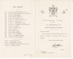 FRANC MACONNERIE HALLAMSHIRE LODGE 1961 FEUILLET 4 PAGES - Historical Documents