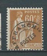 FRANCE  PREO  N°  72  XX  TB Gomme D´origine  3 - 1893-1947