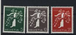 Schweiz Michel No. 344 y , 345 y II , 346 y ** postfrisch