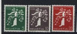 Schweiz Michel No. 348 - 350 y ** postfrisch