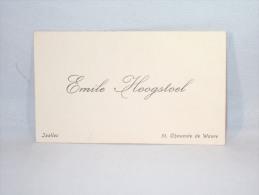 Carte De Visite. Ixelles. Emile Hoogstoel. 51 Chaussée De Wavre. - Tarjetas De Visita