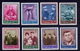 Ajman - 1964 - John F Kennedy Commemoration (Perf) - MNH - Ajman