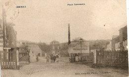 Jamioulx Place Communale  (petites Taches Visibles Sur Scan) -verso Relais Jamioulx 1909 - Ham-sur-Heure-Nalinnes