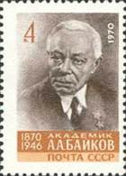 USSR Russia 1970 100Y Birth Chemist Chemistry Sciences A.A.Baikov Famous People Celebrations Stamp MNH Michel 3810 - Chemistry
