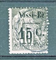 Nossi Be Tasse 1891 Y&T N. 13 C. 15 Su C. 10 Nero E Lilla (soprastampa IV)