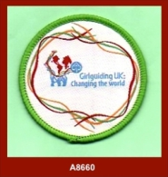 """A8660  (2010)  """"Girlguiding UK: Changing The World""""  (Girl Guide Badge) - Scouting"""