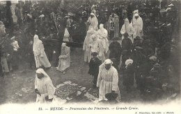 Mende : Procession Des Penitents, Grande Croix - Mende