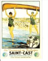 Chemin De Fer De L'état  : Reproduction Affiche Pour Les Vacances En Bretagne à Saint-Cast - Advertising