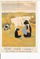 Chemin De Fer D' Orléans  : Reproduction Affiche Pont -Aven - Advertising