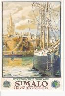 Chemin De Fer De L´état  & Ville De Saint Malo  : Reproduction Affiche St Malo - Advertising