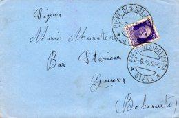 1941 LETTERA CON ANNULLO PIEVE DI SINALUNGA SIENA - Storia Postale