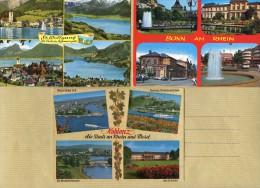 Lot De 5 CP - Multivues Allemagne Et Autriche - BONN - KOBLENZ - ST WOLFGANG - Rhein Mosel - 2 Scans - Cartoline