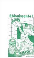 Buvard Publicitaire Aciépol Brillant Abrasif - Produits Ménagers