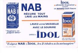 Buvard Publicitaire Poudres à Nettoyer Nab Et Idol - Produits Ménagers