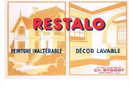 Buvard Publicitaire Peinture Restalo - Paints