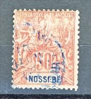 Nossi Be 1894 Y&T N. 37 C. 50 Rosa USATO