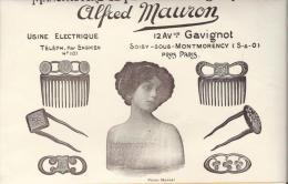 Manufacture de Peignes /Alfred MAURON/Soisy-sous-Montmor ency/Publicit�/ 1913    ILL7