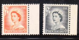 New Zealand 1953-57 QE 2v MNH - Nuovi