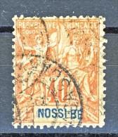 Nossi Be 1894 Y&T N. 36 C. 40 Rosso Arancio USATO