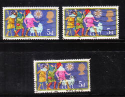Great Britain 1969 Christmas Three Shepherds 3v Used - Used Stamps