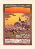 Chemin De Fer De L'Etat : Reproduction Affiche Publicitaire Pour Excursions Sur La Seine - Advertising