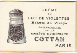 Crême Au Lait De Violettes/Cottan/Paris/Publicité/ 1913    ILL9 - Produits De Beauté