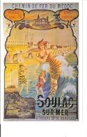 Chemin De Fer Du Medoc : Reproduction Affiche Publicitaire Pour Soulac Sur Mer - Advertising