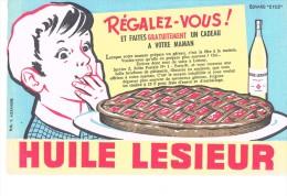Buvard Publicitaire Huile Lesieur - Food