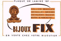 Buvard Publicitaire Bijoux Fix - Blotters