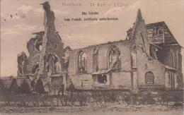 Bixschoote - Die Kirche Von Feindl. Artillerie Zerschoßen - Langemark-Poelkapelle