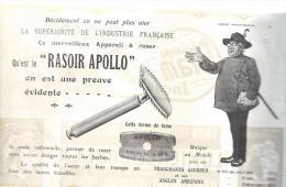 Rasoir APOLLO/ Unique au Monde/Publicit�/ 1913              ILL15