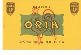 Buvard Publicitaire Bijoux Oria - Blotters