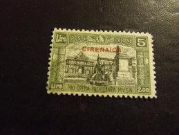CIRENAICA 1929 MILIZIA II 5+2 L USATO - Cirenaica