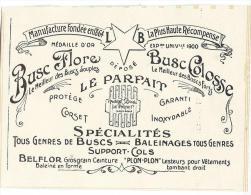 Buscs/Baleinages/Support-cols//Publicité/ 1913              ILL20 - Habits & Linge D'époque