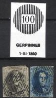 Belgique - Médaillons  - D100 GERPINNES  (timbres Second Choix, D´attente Ou D´étude) - Balkenstempel: Ausladungen